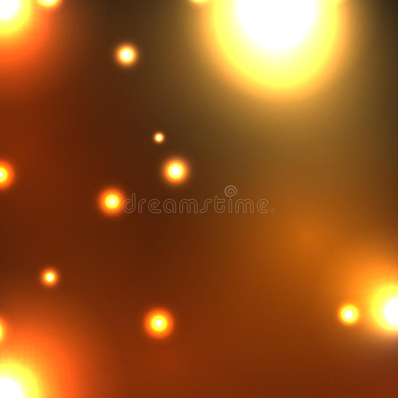 Night city. Abstract image fires of the night city vector illustration
