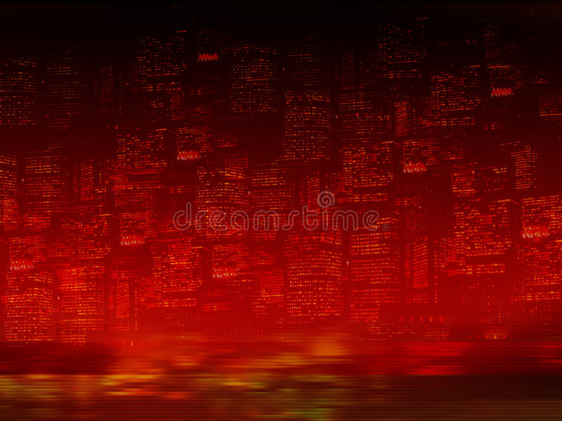 Night city background. Blurred abstract buildings