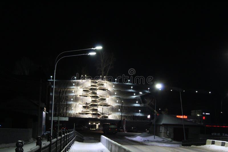Night City Barnaul stock photos