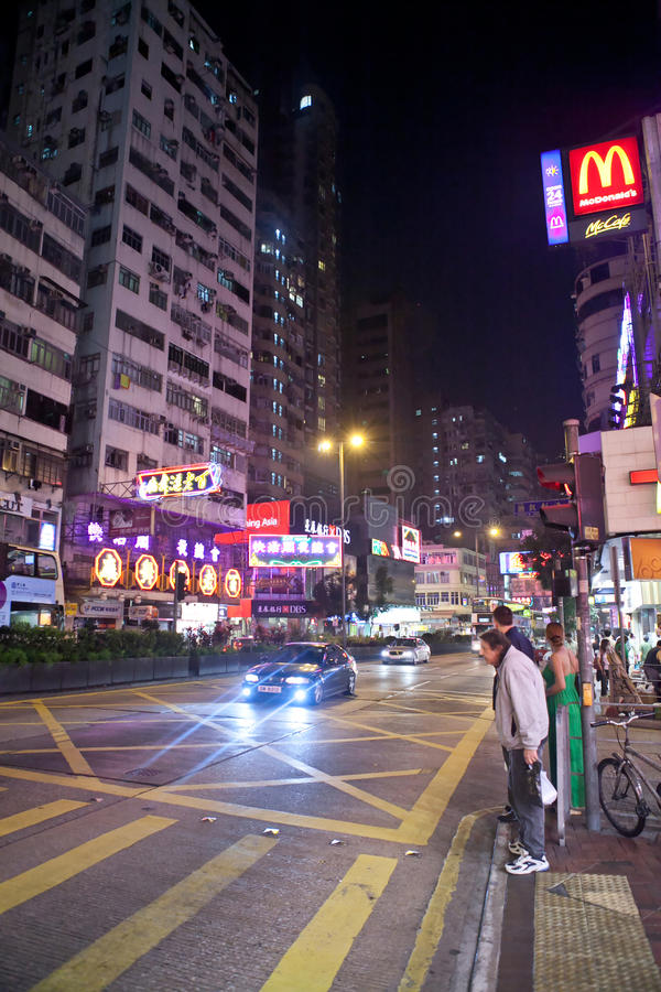 Download Night City Life Of Hong Kong Editorial Photography - Image of architecture, city: 29579657