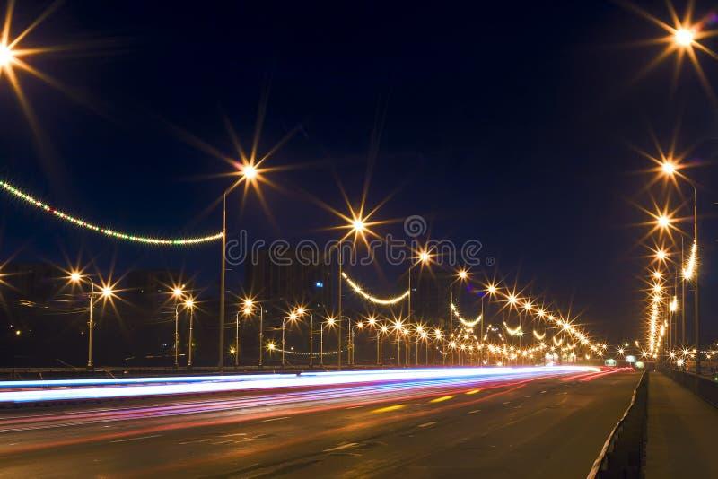 Night city lights royalty free stock photos