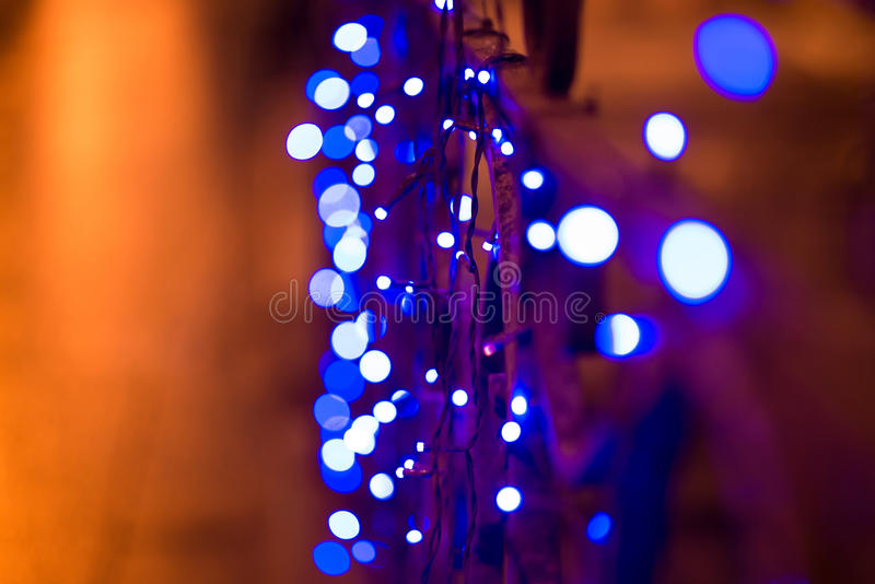 Night city lights, abstract background. Vibrant stock photo