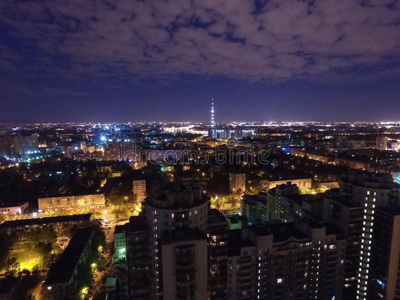Night City in Rusha royalty free stock images