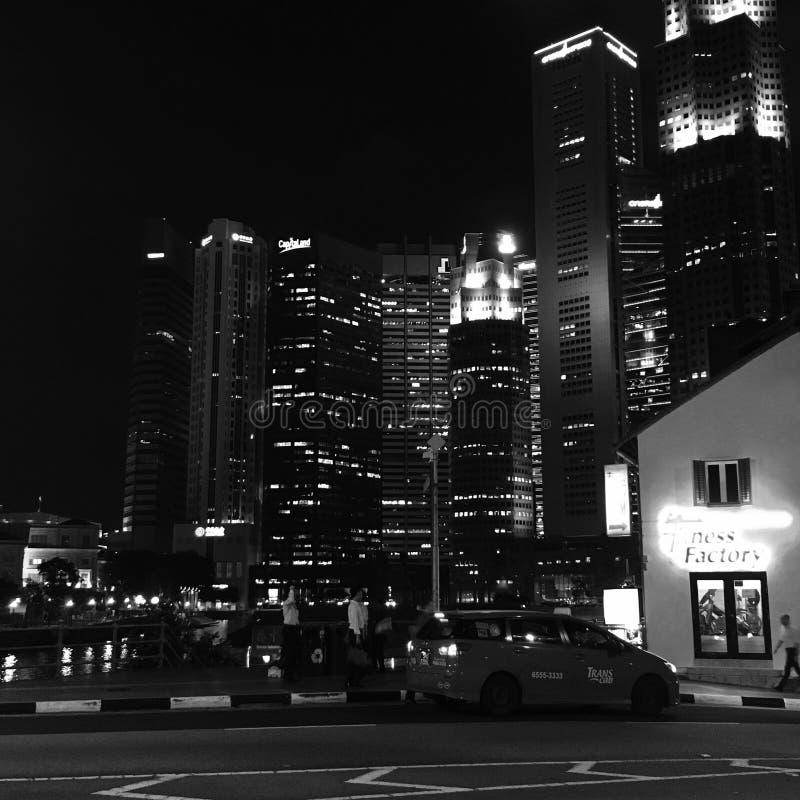 Night  city Singapore stock image