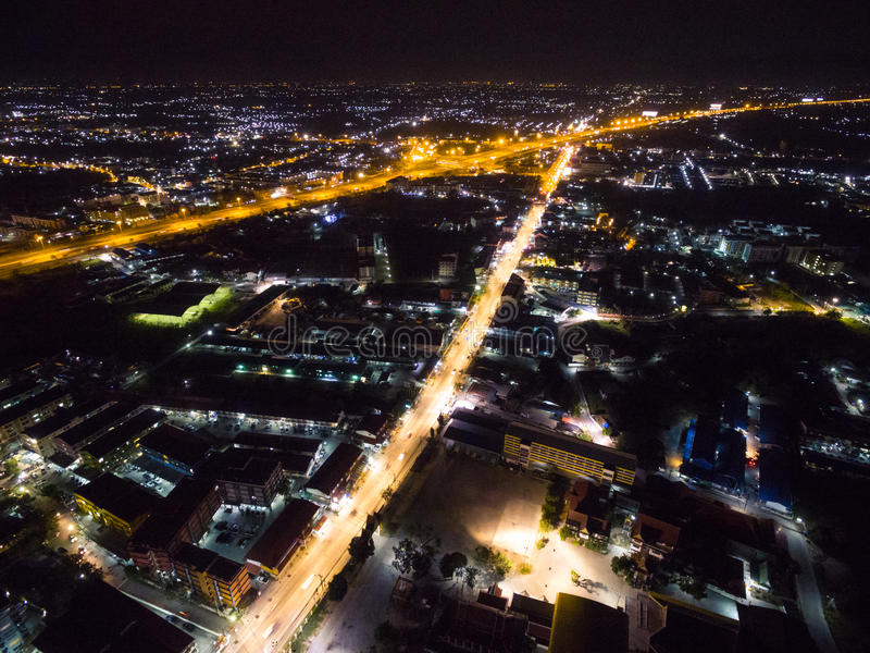 Night city in Thailand. Lookalike background royalty free stock photos