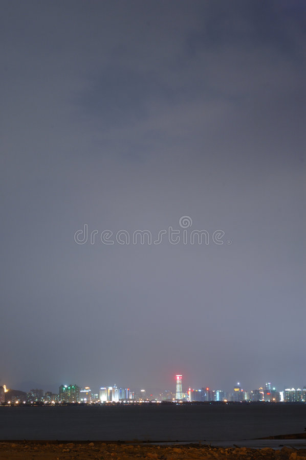 Night city view royalty free stock images