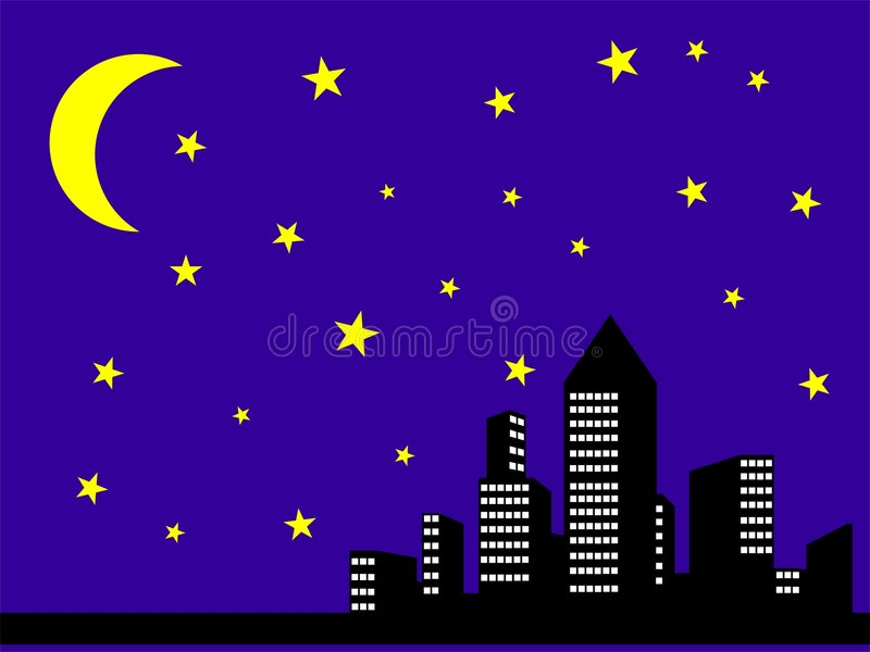 Download Night city view stock illustration. Image of building - 7416541