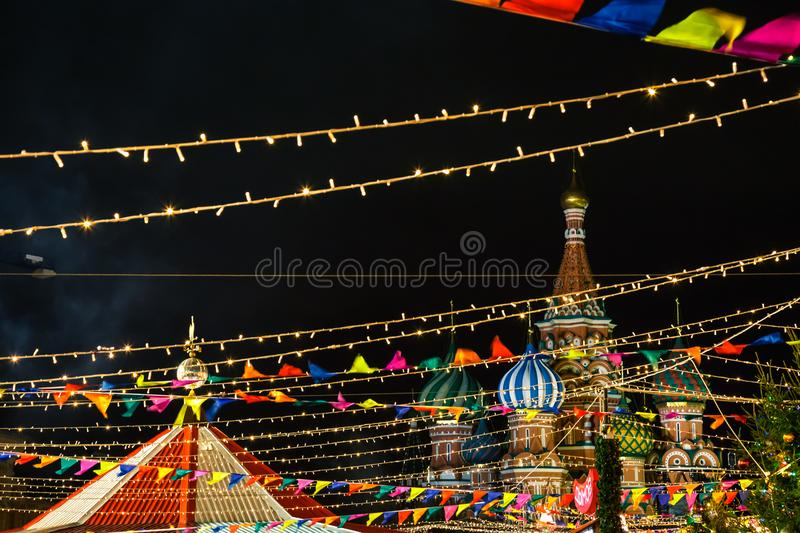 Christmas Red Square in Moscow, Russia. royalty free stock photo