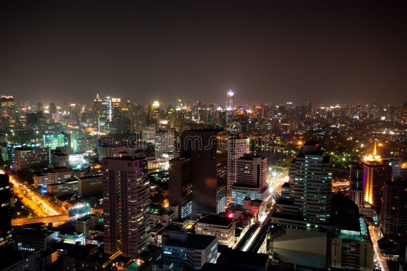 Night cityscape in bangkok royalty free stock photos