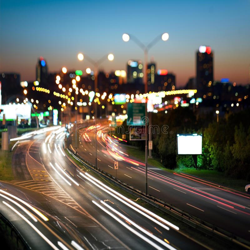 Download Night Cityscape And Highway, Stock Image - Image: 19724935
