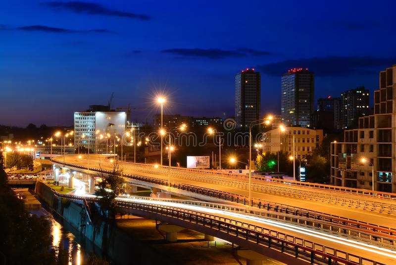 Download Night Cityscape. Rostov-on-Don. Russia Stock Image - Image: 21110915