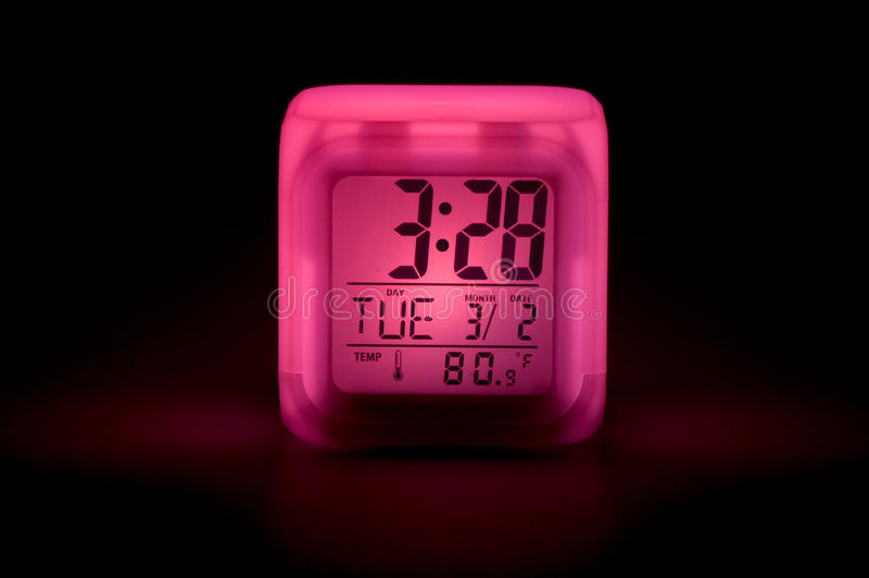 Night clock stock photography