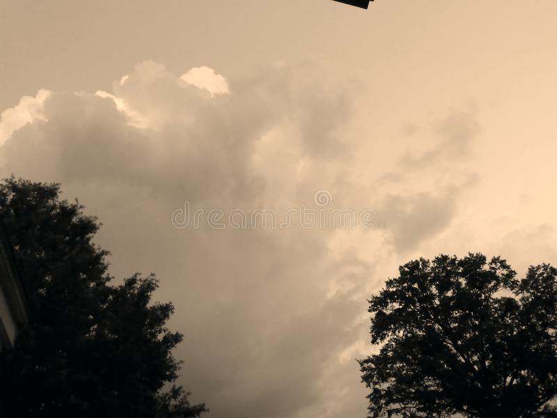 Night clouds royalty free stock photos