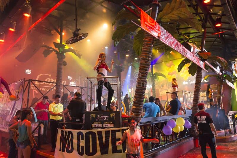 Night-club del Congo Antivari in Cancun fotografia stock