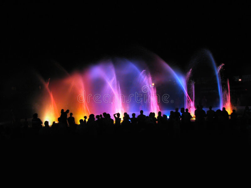 Download Night Club; Fountain In Night Stock Image - Image: 5737761