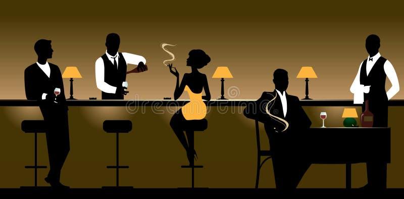 Night Club & Restaurant vector illustration