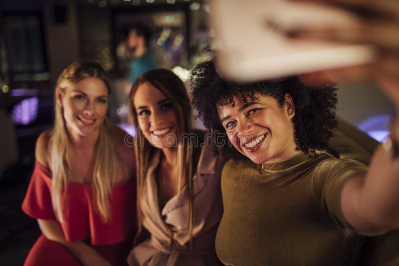 Night-club Selfie fotografia stock
