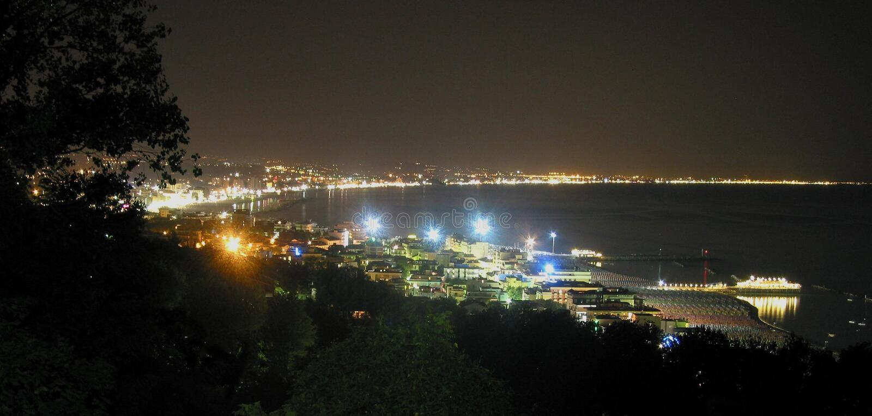 Night coast stock photography