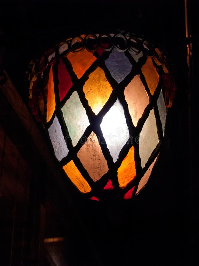 Night colorful lantern on the background of night royalty free stock image