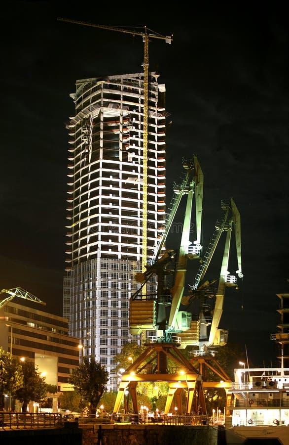 Night construction royalty free stock image