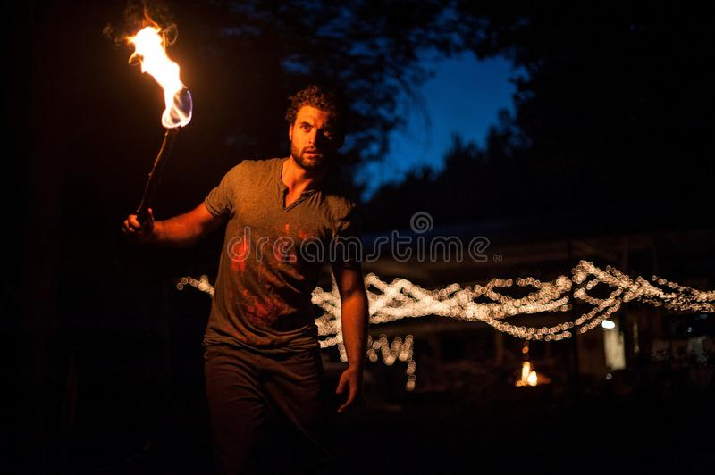 Night, Darkness, Fire, Performance Art stock images
