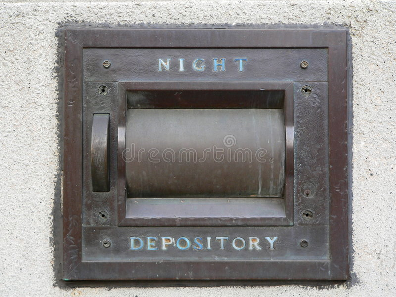 Download Night Depository Vault At A Bank (generic) Royalty Free Stock Image - Image: 191926
