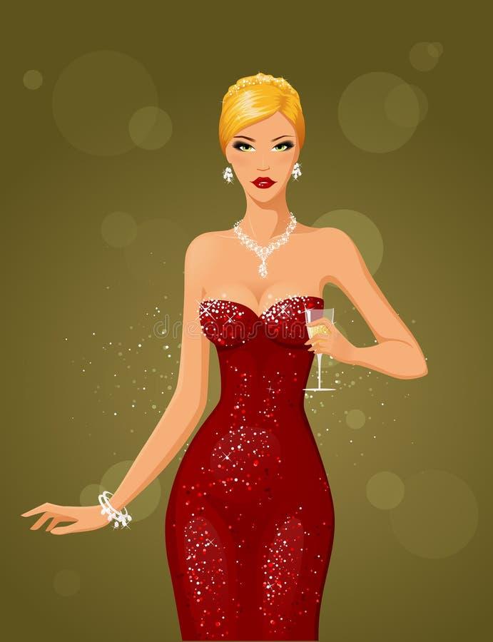 Download Night & diamonds (blonde) stock vector. Illustration of beautiful - 16309604