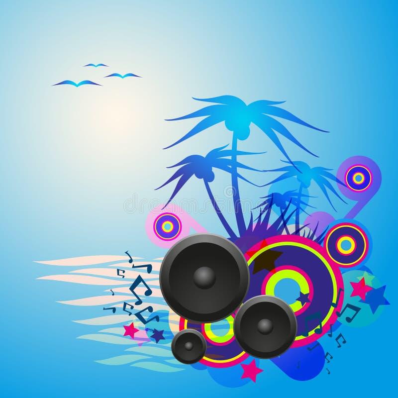 Night Disco Dance Tropical Music Flyer. stock illustration