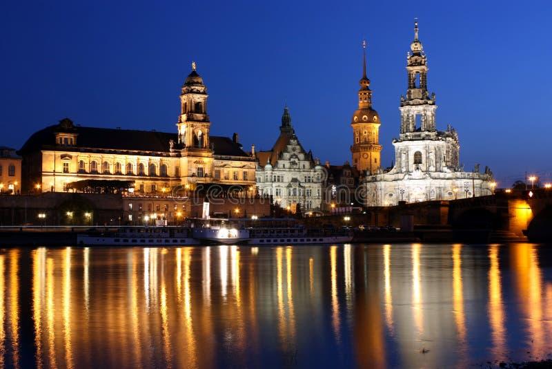 Night Dresden royalty free stock photo