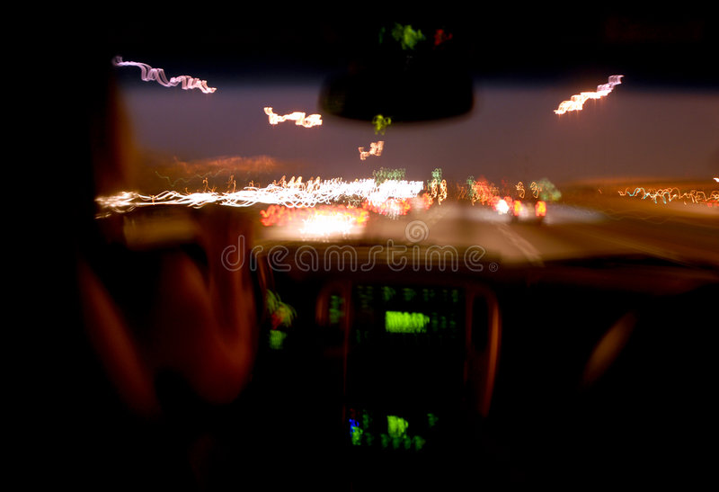 Download Night driver. stock image. Image of driver, dangerous - 3464431