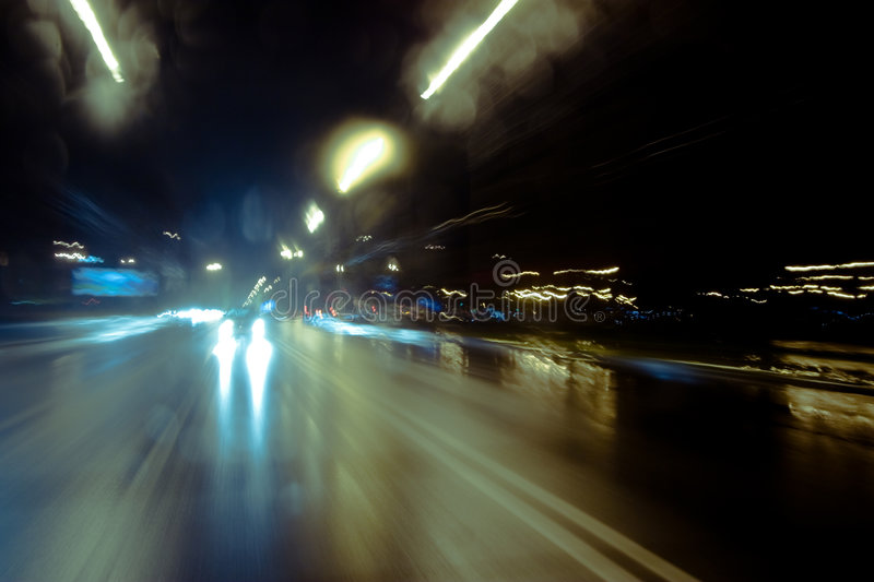 Night driving royalty free stock images