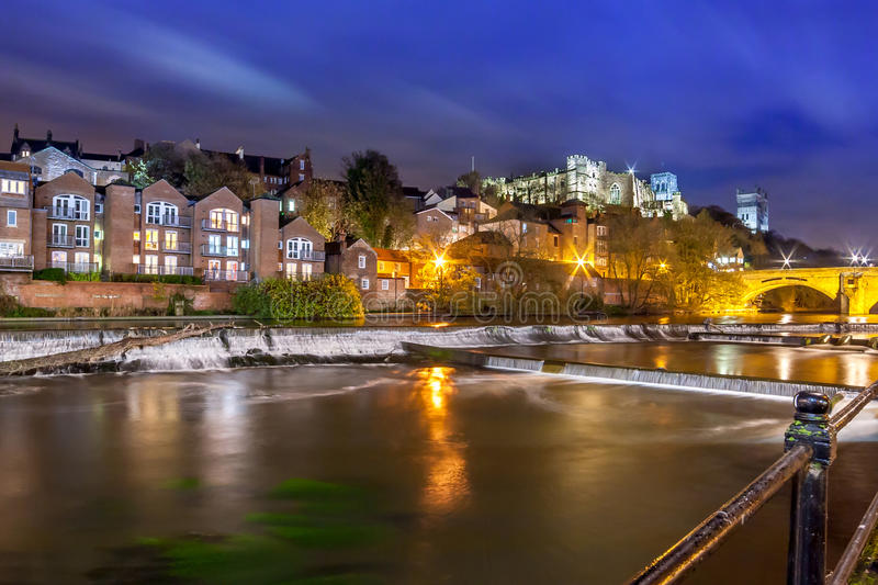 Night Durham Cathedral River Wear royalty free stock image