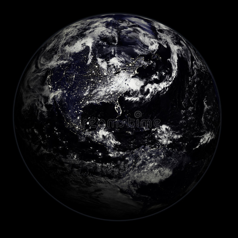 Download Night Earth - Europe/Asia/Afri Stock Photo - Image: 3685500