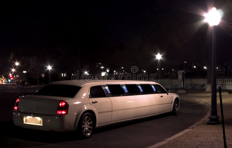 Night escort. Limousine (lights of Washington DC series