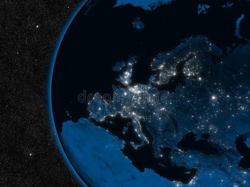 Download Night in Europe stock illustration. Illustration of graphics - 37427372