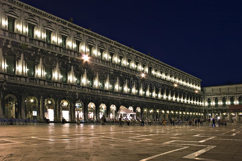 Download Night Exposure Of Piazza San Marco, Venice, Stock Photo - Image: 9429644