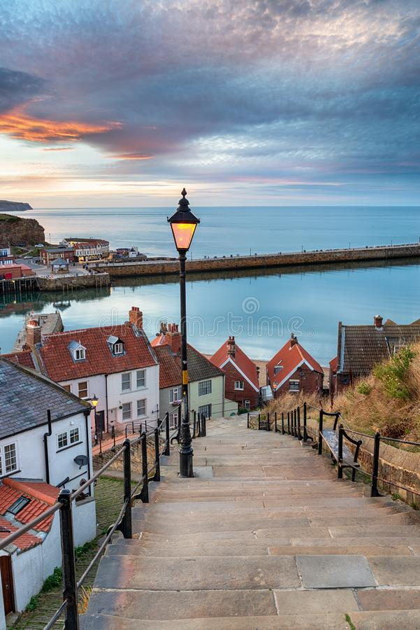 Free Night Falls Over Whitby Stock Photography - 127582412