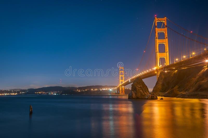 Blue hour over the Golden Gate Bridge stock photos