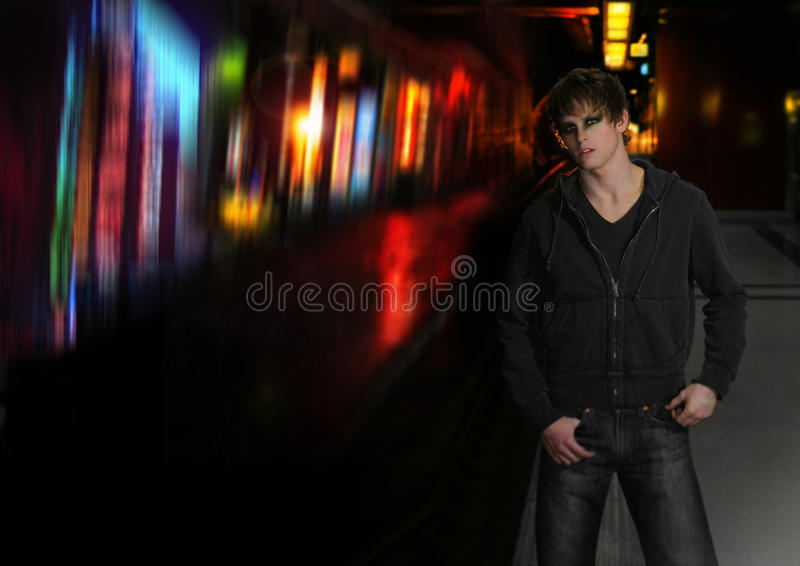Night fashion stock photo