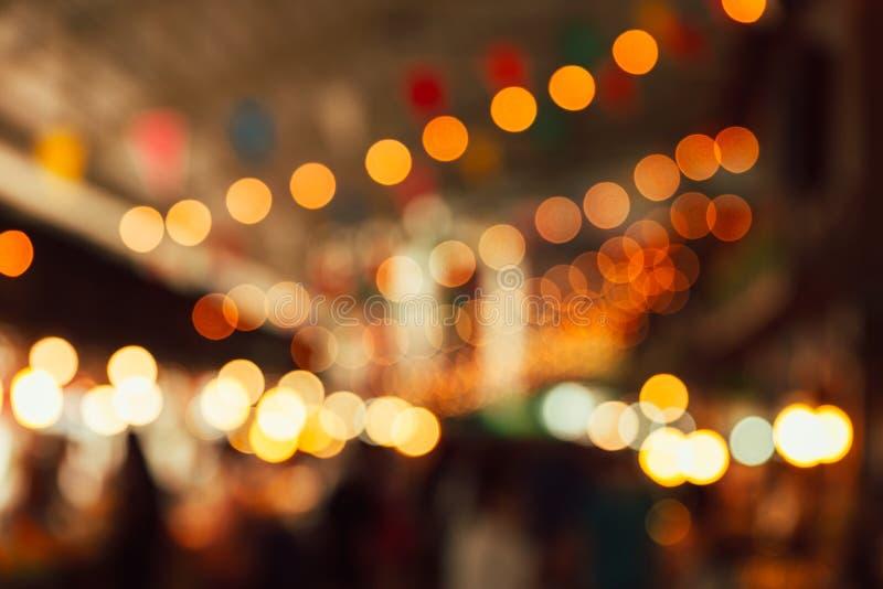 Night festival light blur. Background stock photos