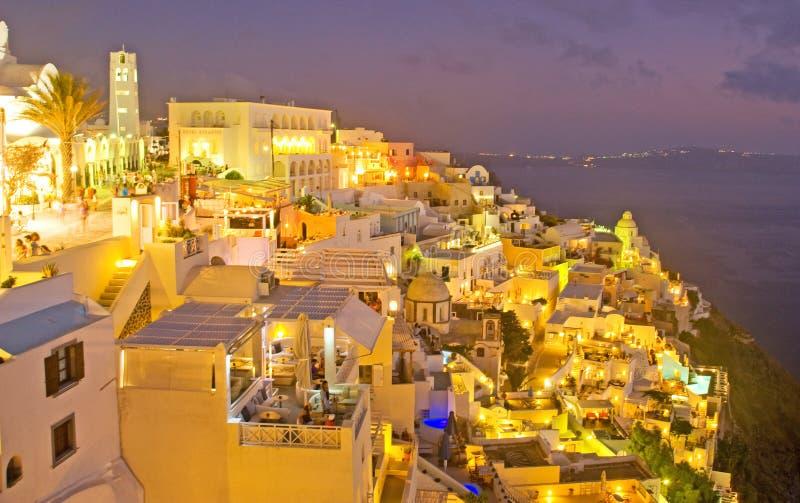 Download Night In Fira Santorini, Greece. Editorial Stock Image - Image: 20523894