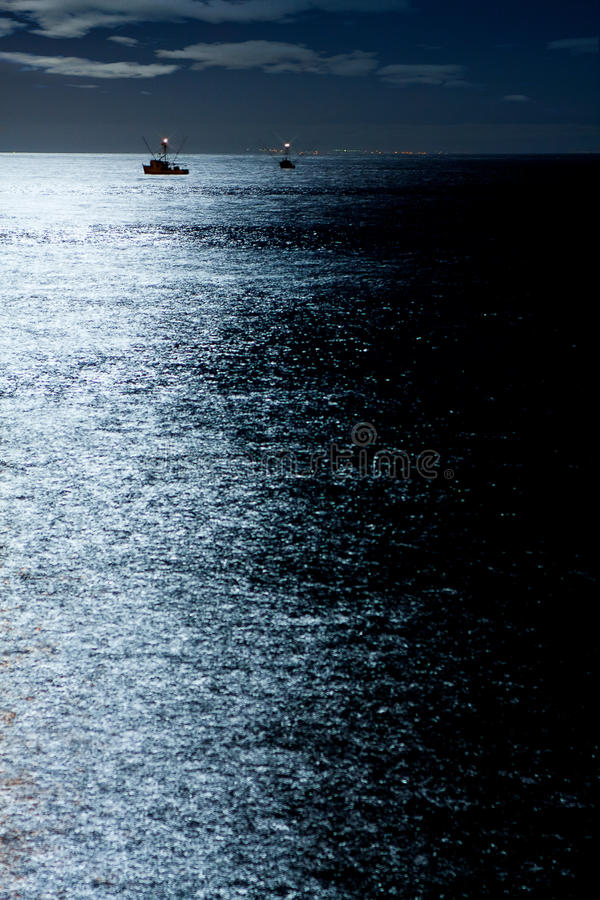 Download Night Fishing stock photo. Image of moonlight, industrial - 27510240
