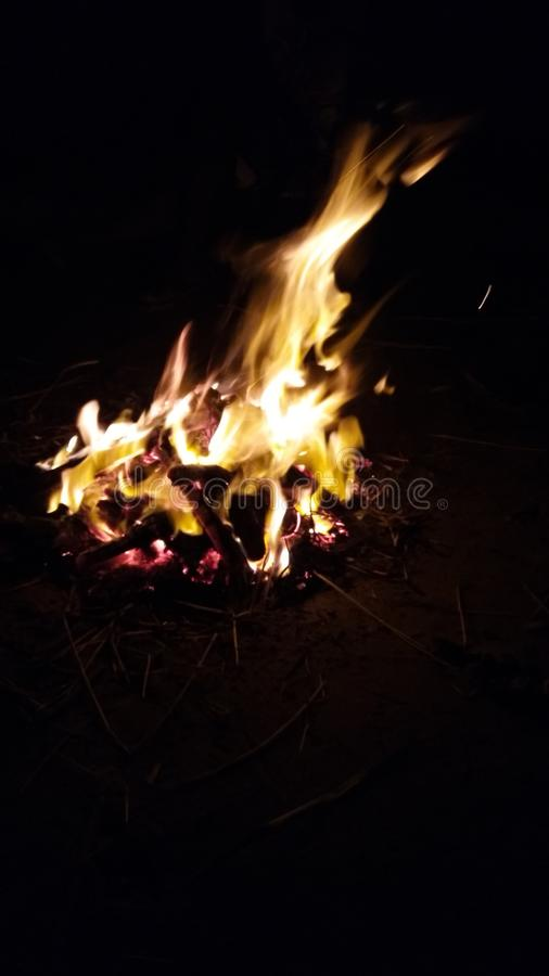 Bon fire @ beach royalty free stock photo