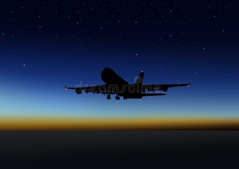 Night Flight Royalty Free Stock Image