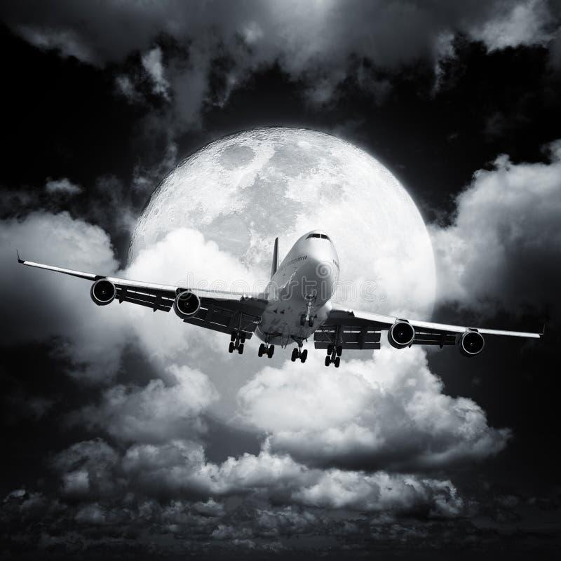 Night flight royalty free stock photo
