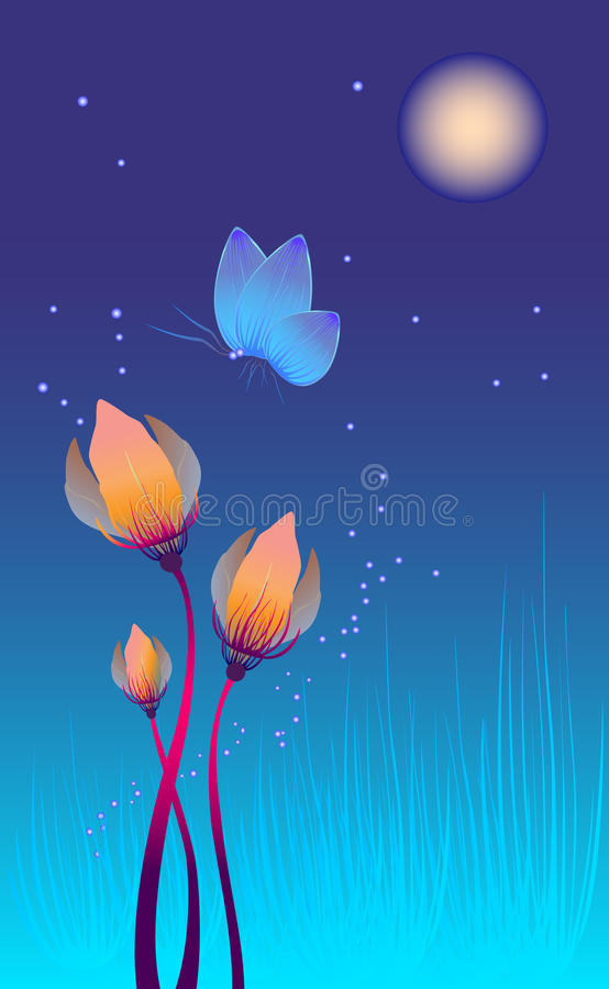 Download Night Flowers Royalty Free Stock Photography - Image: 26680467