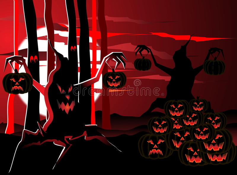 Download Night in the forest stock vector. Image of halloween - 16760378