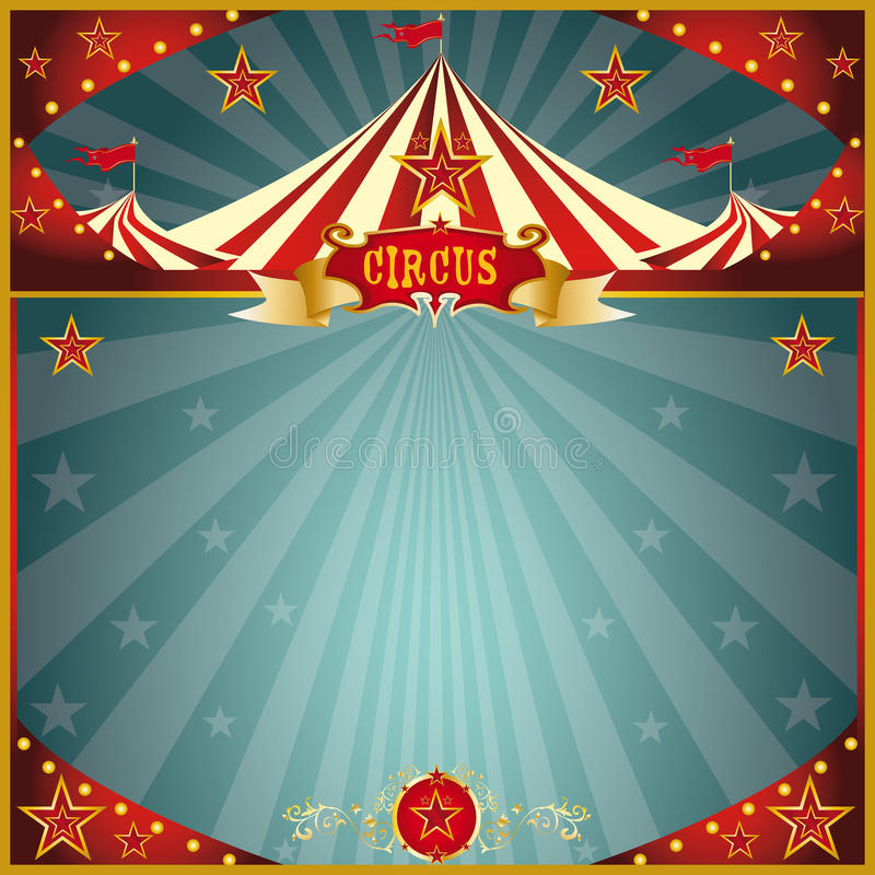 Night fun circus square stock image