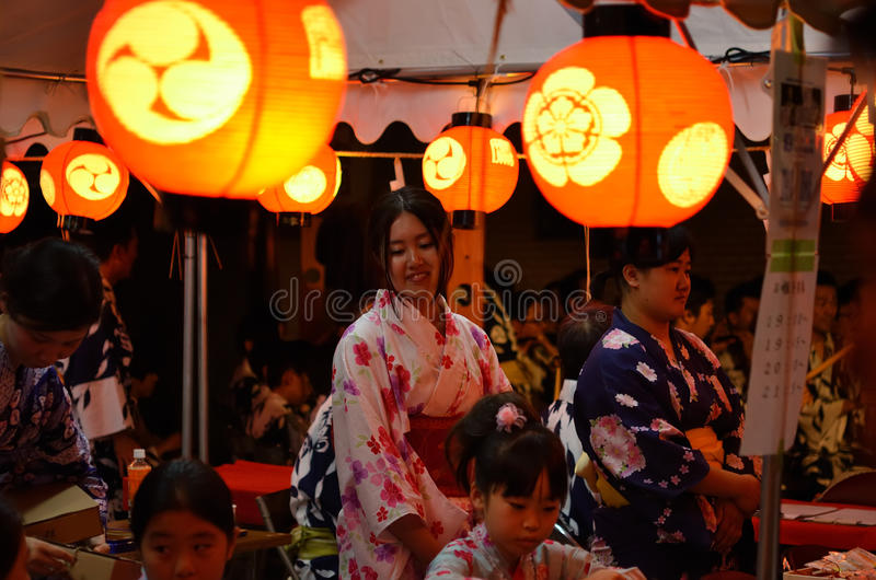 The night of Gion festival, Kyoto Japan stock photos
