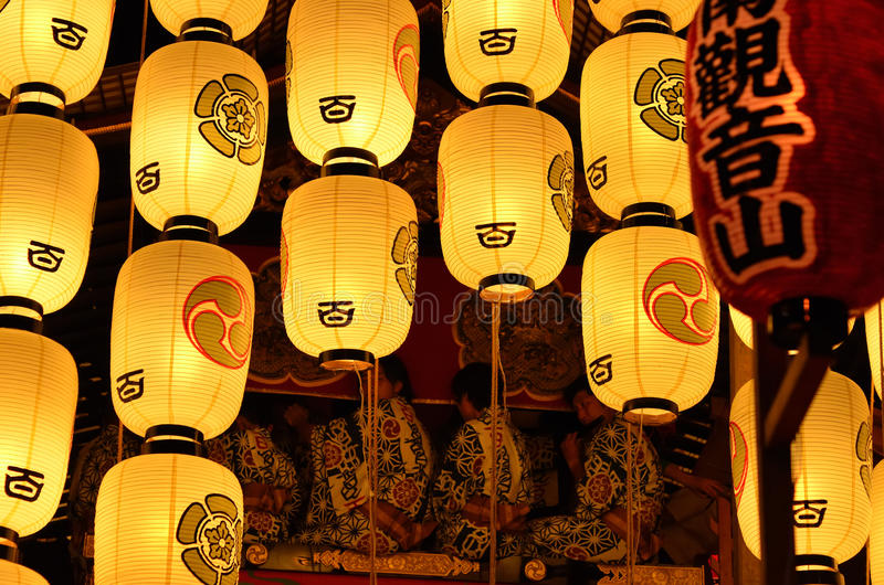 The night of Gion festival, Kyoto Japan royalty free stock photo
